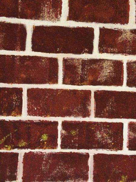 Stamped bricks without shadows